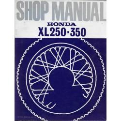 HONDA XL 250 / K1 / Xl 350 de 1973 (manuel atelier en anglais)