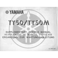 YAMAHA TY 50 / TY 50 M (additif manuel atelier 10 / 1977)