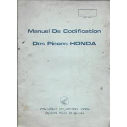 HONDA (manuel de codification des pièces de 1970 environ)