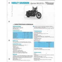 HARLEY DAVIDSON 883 Sporster (2013) fiche technique E.T.A.I