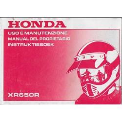 HONDA XR 650 R de 2000 (manuel utilisateur 01 / 2000)