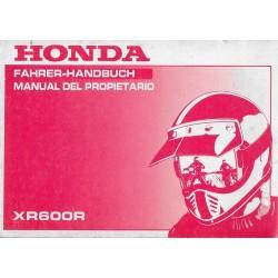 HONDA XR 600 R de 1993 (manuel utilisateur 08 / 1992)