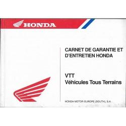 HONDA VTT (carnet garantie neuf 12 / 1996)