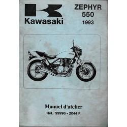 KAWASAKI ZEPHYR 550 de 1990 à 1993 (manuel atelier)