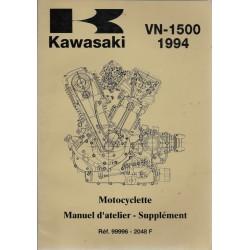 Manuel atelier (additif) KAWASAKI VN 1500 de 1994
