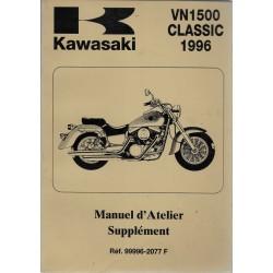 Manuel atelier (additif) KAWASAKI VN 1500 de 1996