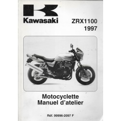 Manuel atelier KAWASAKI ZRX 1100 de 1997 (11/1996)