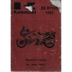 Manuel atelier KAWASAKI ZZ R 1100 de 1993 (12/1992)