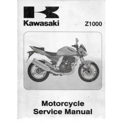 Manuel atelier KAWASAKI Z 1000 de 2003 (en anglais)