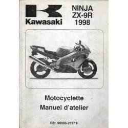 Manuel atelier KAWASAKI ZX-9R de 1998