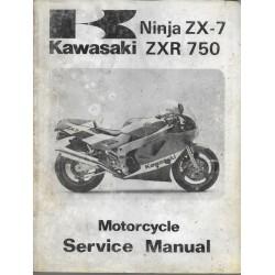 KAWASAKI ZXR 750 H1 de 1989 (manuel atelier en anglais)