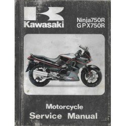 KAWASAKI NINJA 750 R / GPX 750 R (manuel atelier 12 /1992)
