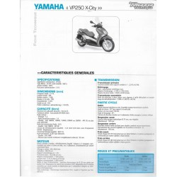 YAMAHA VP 250 X-City (2007) fiche technique RMT