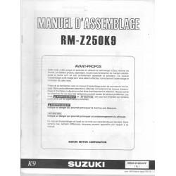 SUZUKI RM-Z 250 K9 de 2009 (manuel assemblage 07 / 2008)