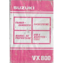 SUZUKI VX 800 L de 1990 (manuel utilisateur)