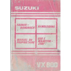 SUZUKI VX 800 N de 1995 (manuel utilisateur)