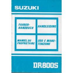 SUZUKI DR 800 SL de 1990 (manuel utilisateur)