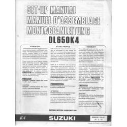 SUZUKI DL 650 K4 de 2004 (manuel assemblage 10 / 2003)