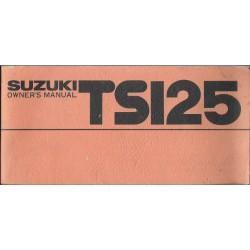 SUZUKI TS 125 C de 1977 (manuel utilisateur en angalis)