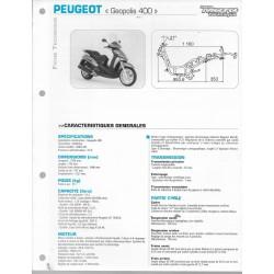 PEUGEOT Géopolis 400 (2007-09) fiche technique E.T.A.I