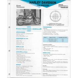 HARLEY DAVIDSON 1100 SPORSTER 1987 fiche technique E.T.A.I