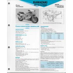 KAWASAKI ZXR 750 H STINGER (1989) fiche technique E.T.A.I