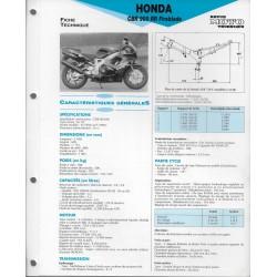 HONDA CB 900 RR (1992-93) fiche technique E.T.A.I