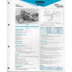 HONDA VFR 750 F (1990-91) fiche technique E.T.A.I