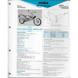 HONDA XRV 750 Africa Twin (1993-94) fiche technique E.T.A.I