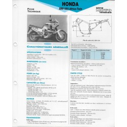 HONDA XRV 650 Africa-Twin (1988-89) Fiche technique E.T.A.I