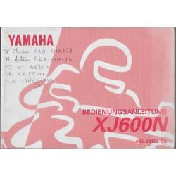 YAMAHA XJ 600 N (type 4KE) de 1996 (manuel utilisateur)