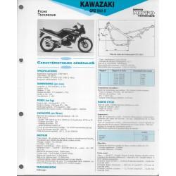 KAWASAKI GPZ 500 S (1987-93) fiche technique E.T.A.I