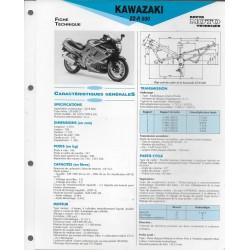 KAWASAKI ZZ-R 600 (1990-92) fiche technique E.T.A.I