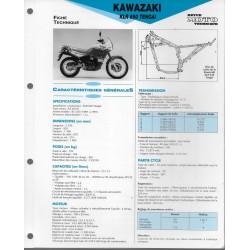 KAWASAKI KLR 650 Tengai (1989-91) fiche technique E.T.A.I