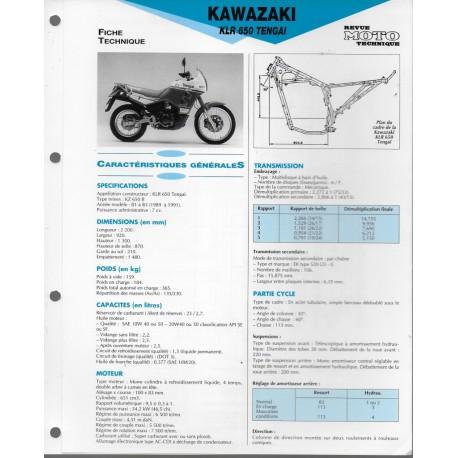 Revue Technique d Atelier E.T.A.I Moto Kawasaki 650 KLR Tengai 1989 /à 1991 N/°58