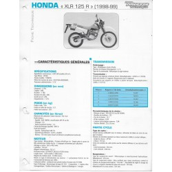 HONDA XLR 125 R (1998-99) fiche E.T.A.I