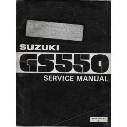 Manuel atelier SUZUKI GS 550 modèle 1977 en anglais