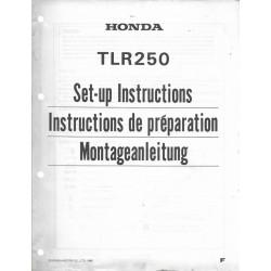 HONDA TLR 250 F de 1985 (Manuel de montage)