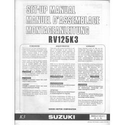 SUZUKI RV 125 K3 (manuel assemblage 01 / 2003)