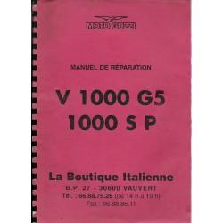 MOTO GUZZI V 1000 G5 / 1000 SP (manuel atelier 1980)