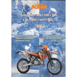 KTM 125, 200, 250, 300, 380 de 1999