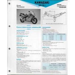 KAWASAKI ZXR 750 J (1991-92) fiche technique E.T.A.I