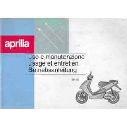 APRILIA SR 50 (manuel utilisateur mars 1998)