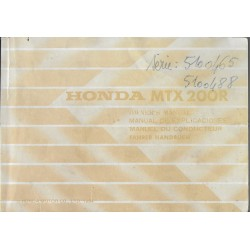 HONDA MTX 200 R de 1985