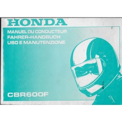 HONDA CBR 600 F de 1993 (Manuel utilisateur 08 / 1992)