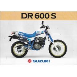 SUZUKI DR 600 S (Prospectus)