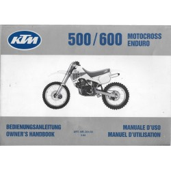 KTM 500 / 600 cross / enduro de 1990 (manuel utilisateu