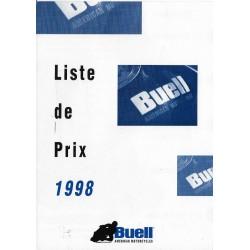 Documents originaux gamme motos BUELL 1998
