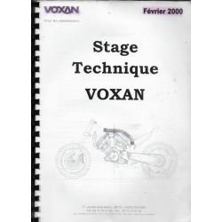 VOXAN (manuel stage technique de février 2000) manuel atelier