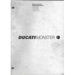 DUCATI MONSTER 400, 600, 750 de 2001 (manuel atelier 07/01)